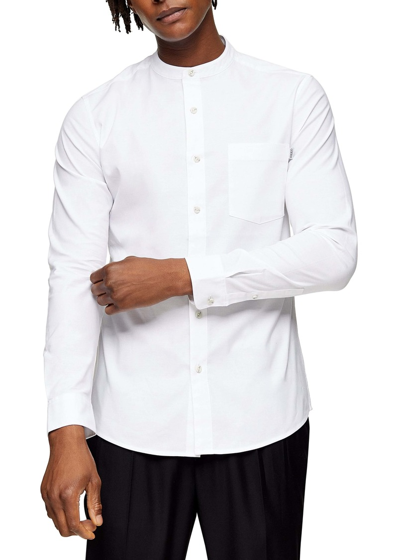 Topman Skinny Fit Button-Up Oxford Shirt