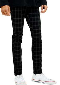 Topman Skinny Fit Check Pants
