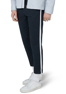 Topman Skinny Fit Cropped Twill Trousers
