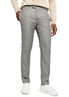 Topman Skinny Fit Cross Check Pants