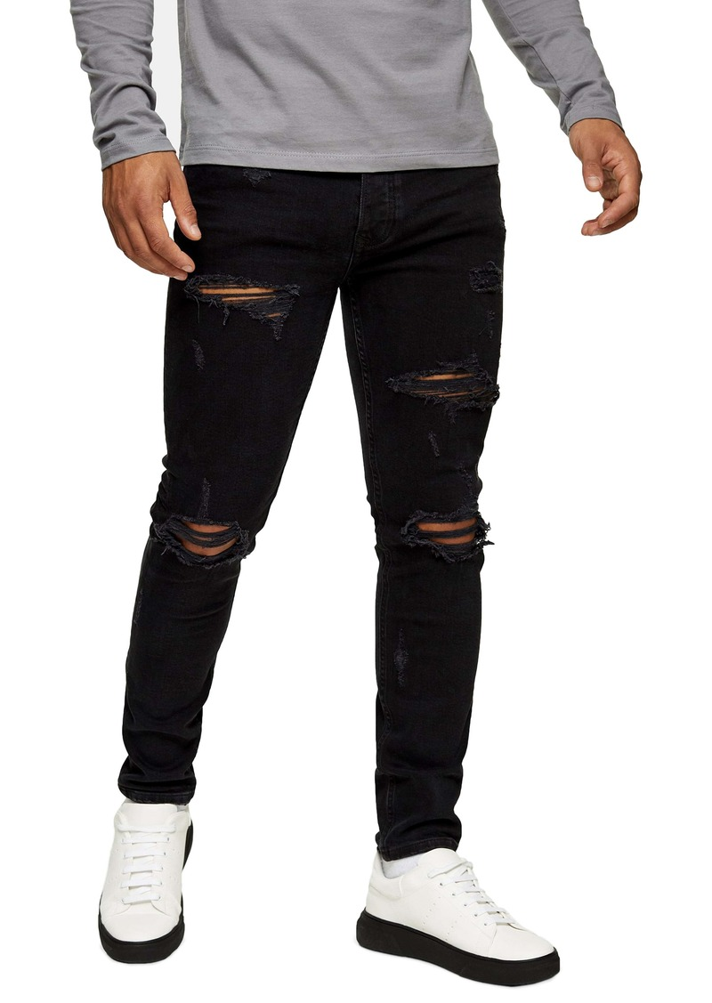 Topman Skinny Fit Extra Ripped Jeans