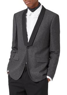 Topman Skinny Fit Jacquard Tuxedo Jacket