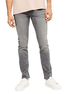 Topman Skinny Fit Jeans (Dark Grey)
