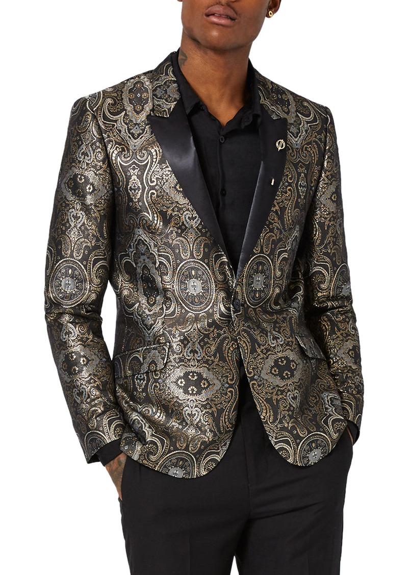 Topman Topman Skinny Fit Paisley Tuxedo Jacket Suits