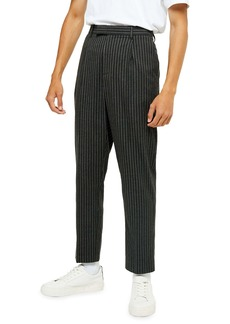 Topman Skinny Fit Pinstripe Crop Pants