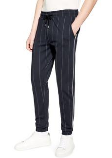 Topman Skinny Fit Pinstripe Jogger Pants