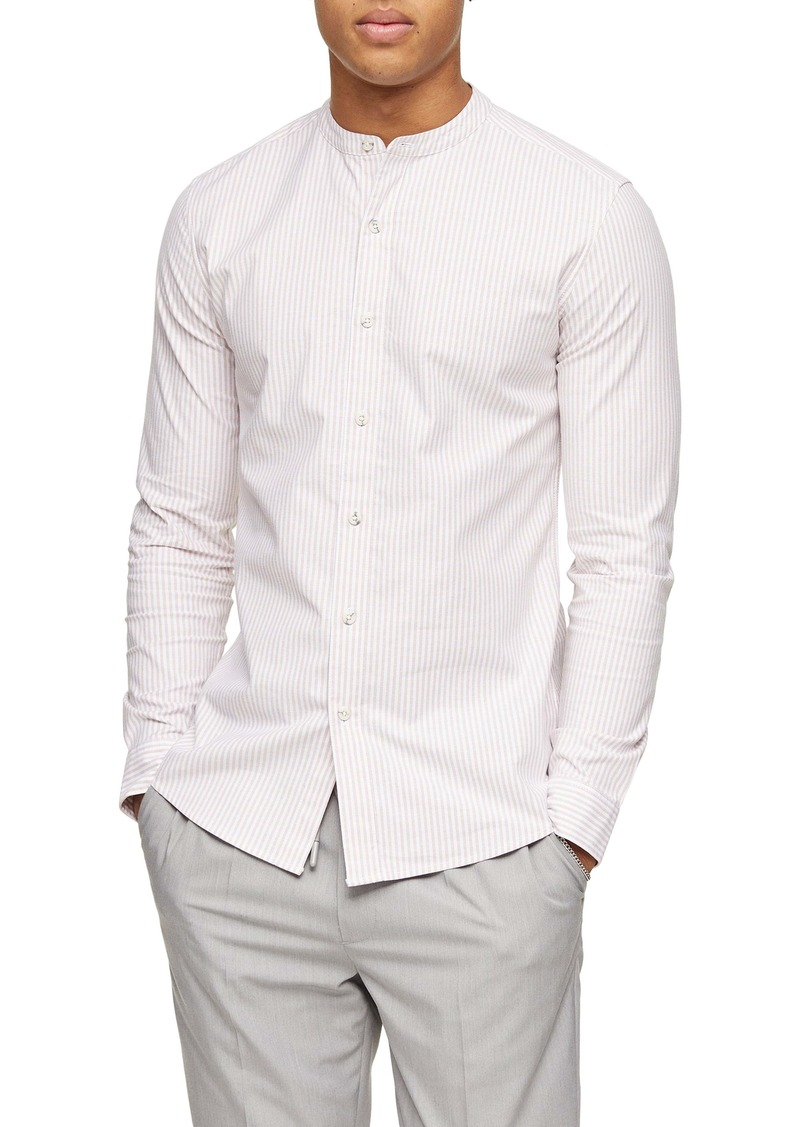 Topman Skinny Fit Stripe Button-Up Shirt