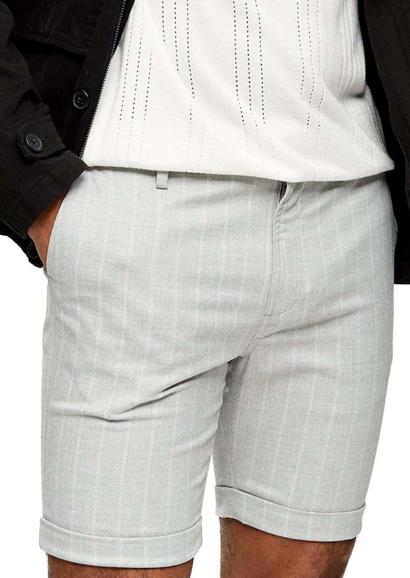 Topman Skinny Fit Stripe Shorts
