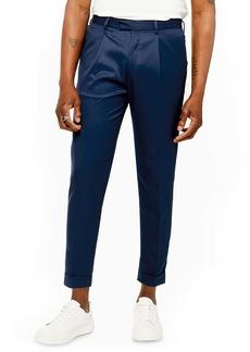 Topman Skinny Fit Turn-Up Trousers