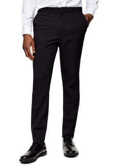 Topman Skinny Fit Tuxedo Dress Pants