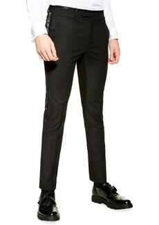Topman Skinny Fit Tuxedo Trousers