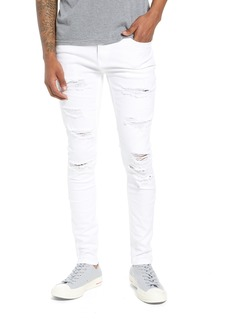 Topman Skinny Spray On Ripped Jeans