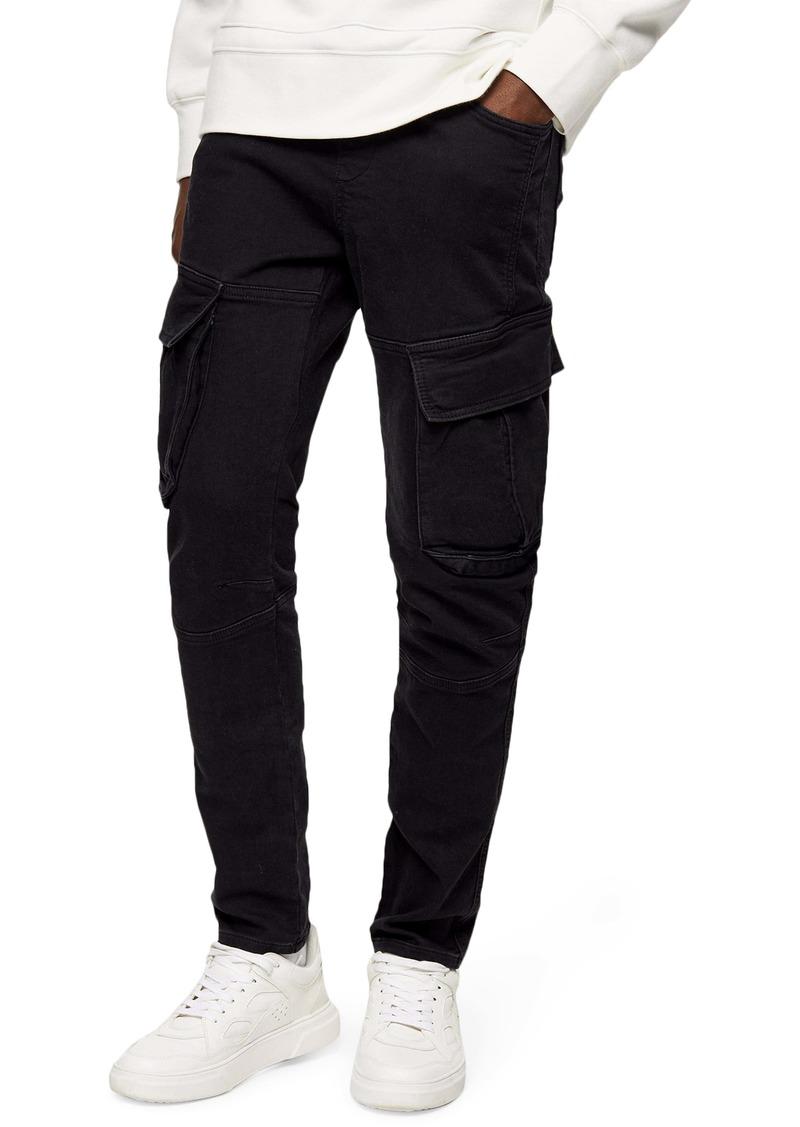 Topman Slim Fit Cargo Jeans
