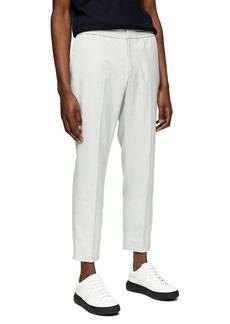 Topman Slim Fit Check Crop Pants