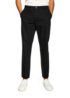 Topman Slim Fit Check Trousers