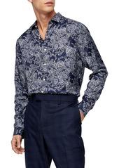Topman Slim Fit Floral Button-Up Shirt