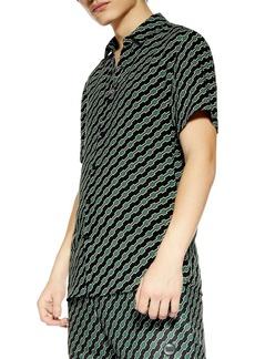 Topman Slim Fit Geometric Print Shirt