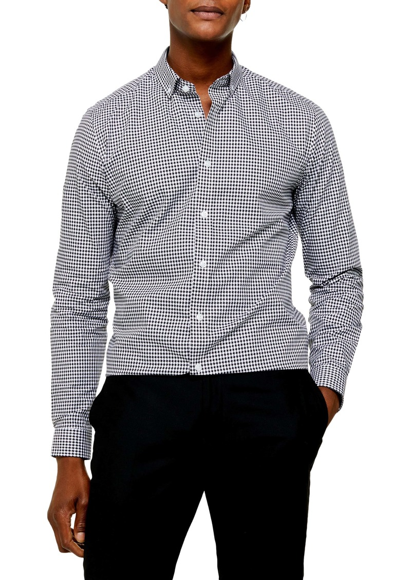 Topman Slim Fit Gingham Check Button-Down Shirt