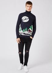Topman Slim Fit Holiday Turtleneck Sweater