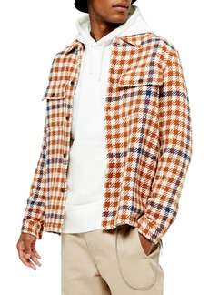 Topman Slim Fit Houndstooth Button-Up Shirt