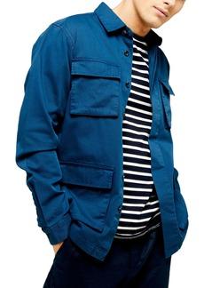 Topman Slim Fit Long Shirt Jacket
