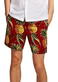 Topman Slim Fit Pineapple Print Shorts