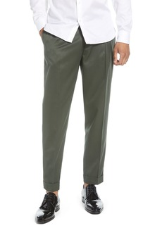 Topman Slim Fit Pleated Tapered Pants