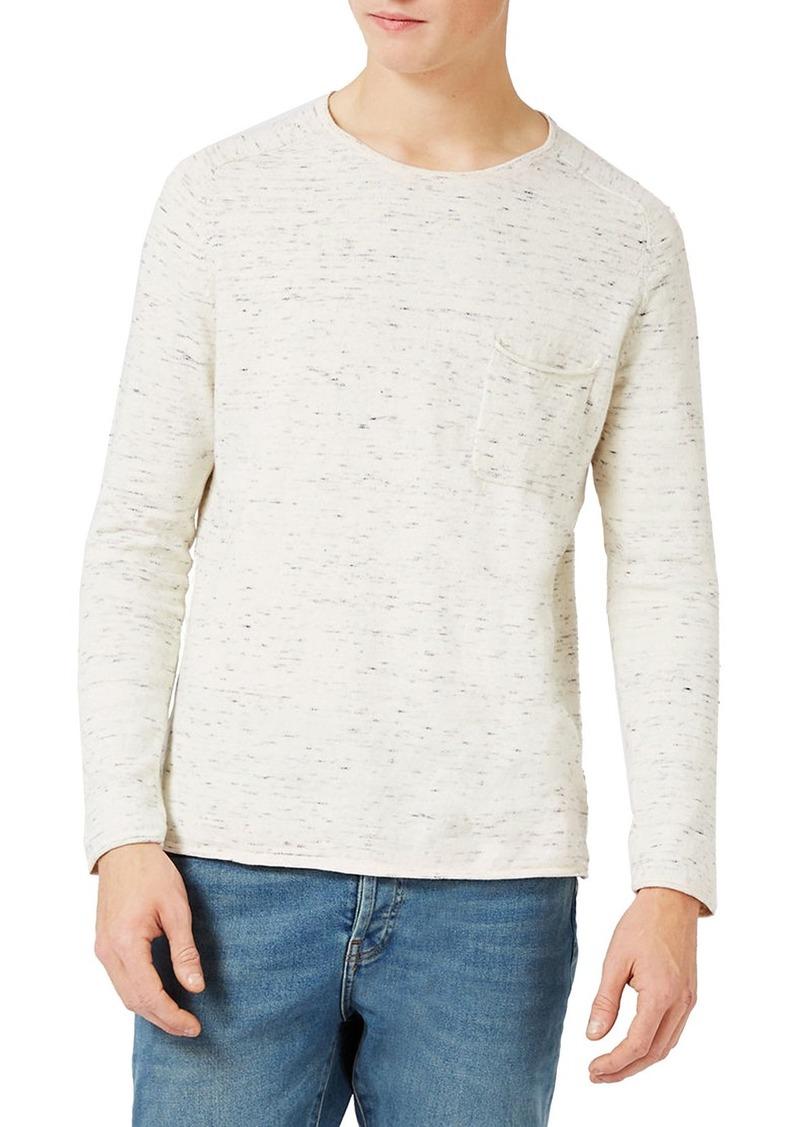 Topman Slim Fit Slub Crewneck Sweater