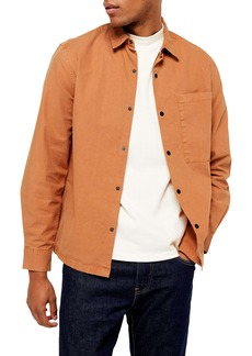 Topman Slim Fit Snap Front Shirt