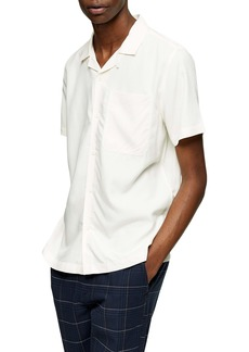 Topman Slim Fit Solid Short Sleeve Button-Up Shirt