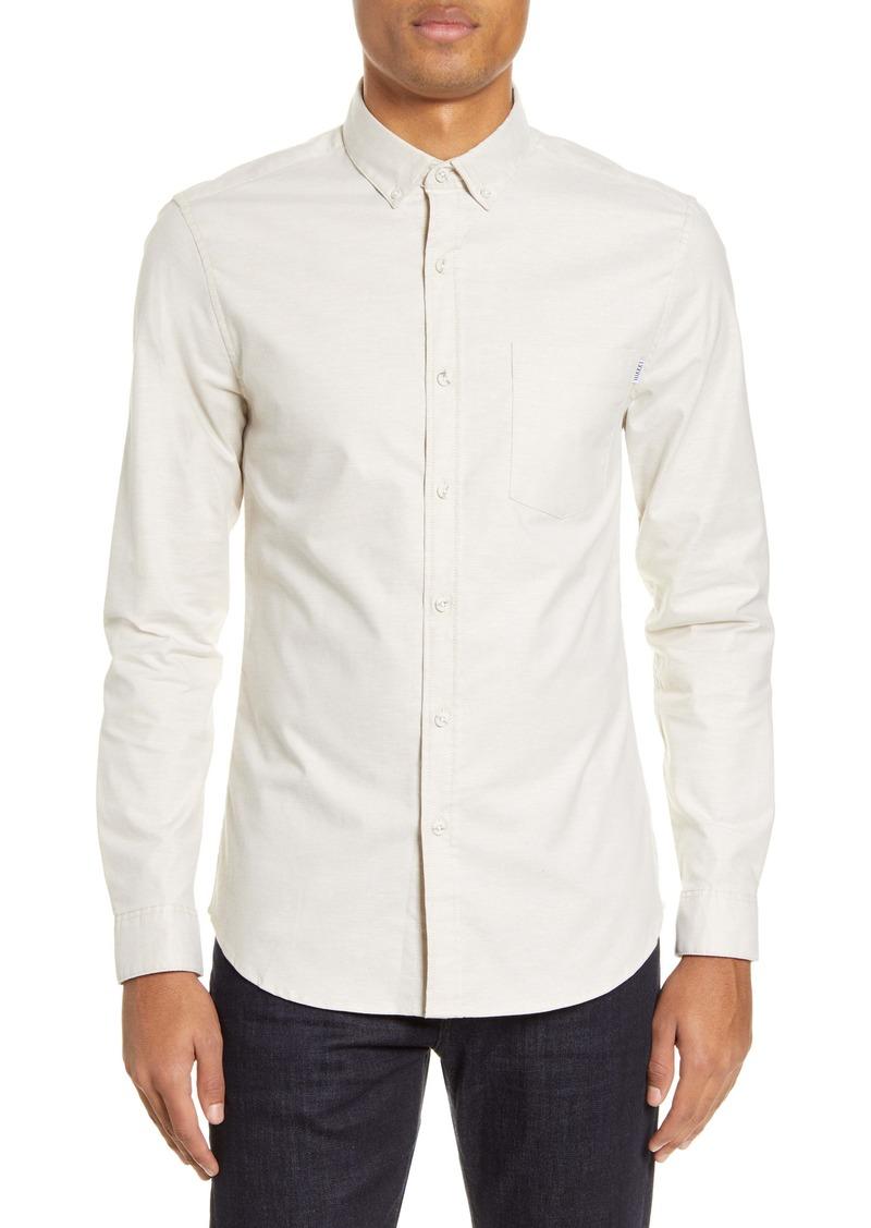 Topman Slim Fit Stretch Button-Down Oxford Shirt