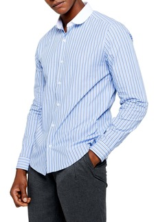 Topman Slim Fit Stripe Button-Up Shirt