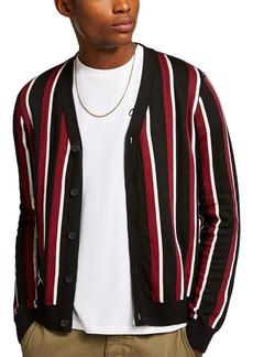 Topman Slim Fit Stripe Cardigan