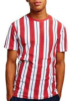 Topman Slim Fit Stripe Piqué T-Shirt
