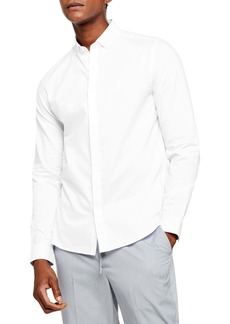Topman Slim Fit Textured Button-Down Shirt