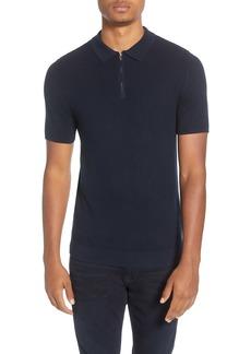 Topman Slim Fit Zip Sweater Polo