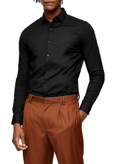 Topman Smart Stretch Button-Up Shirt