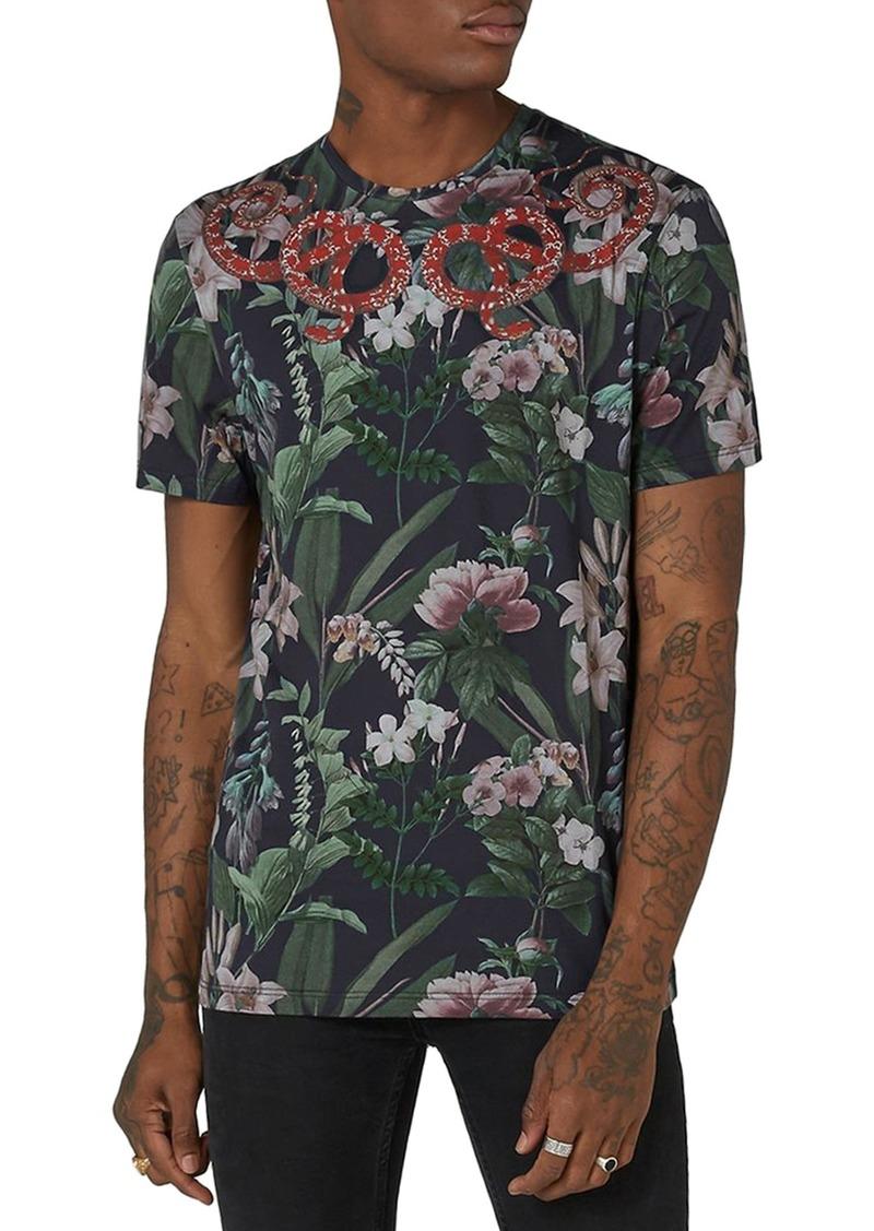 deb67d4b8 SALE! Topman Topman Snake Print T-Shirt