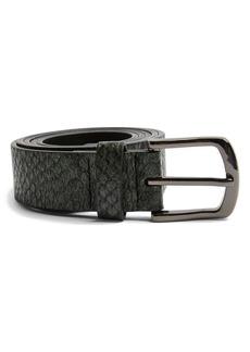 Topman Snakeskin Print Belt