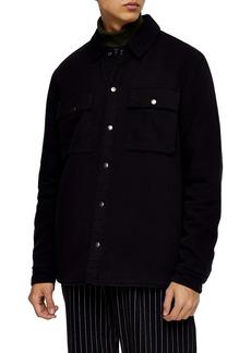 Topman Snap Front Overshirt