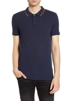 Topman Snit Classic Fit Ribbed Polo
