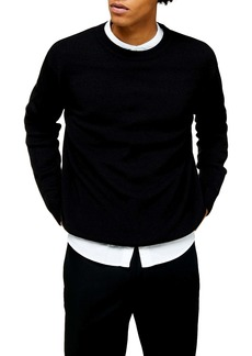 Topman Solid Crewneck Sweater
