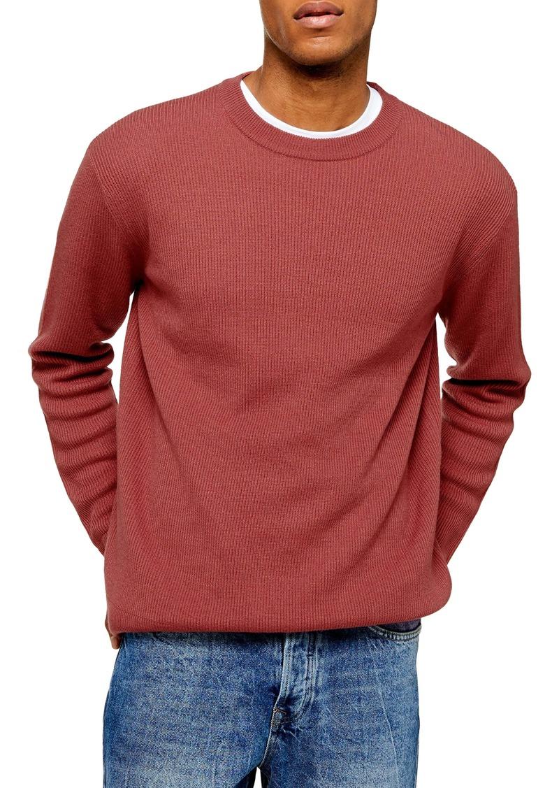 Topman Solid Crewneck Sweater