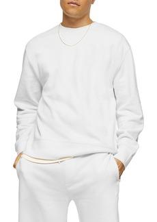 Topman Solid Crewneck Sweatshirt