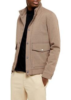 Topman Stellar Harrington Classic Fit Check Jacket