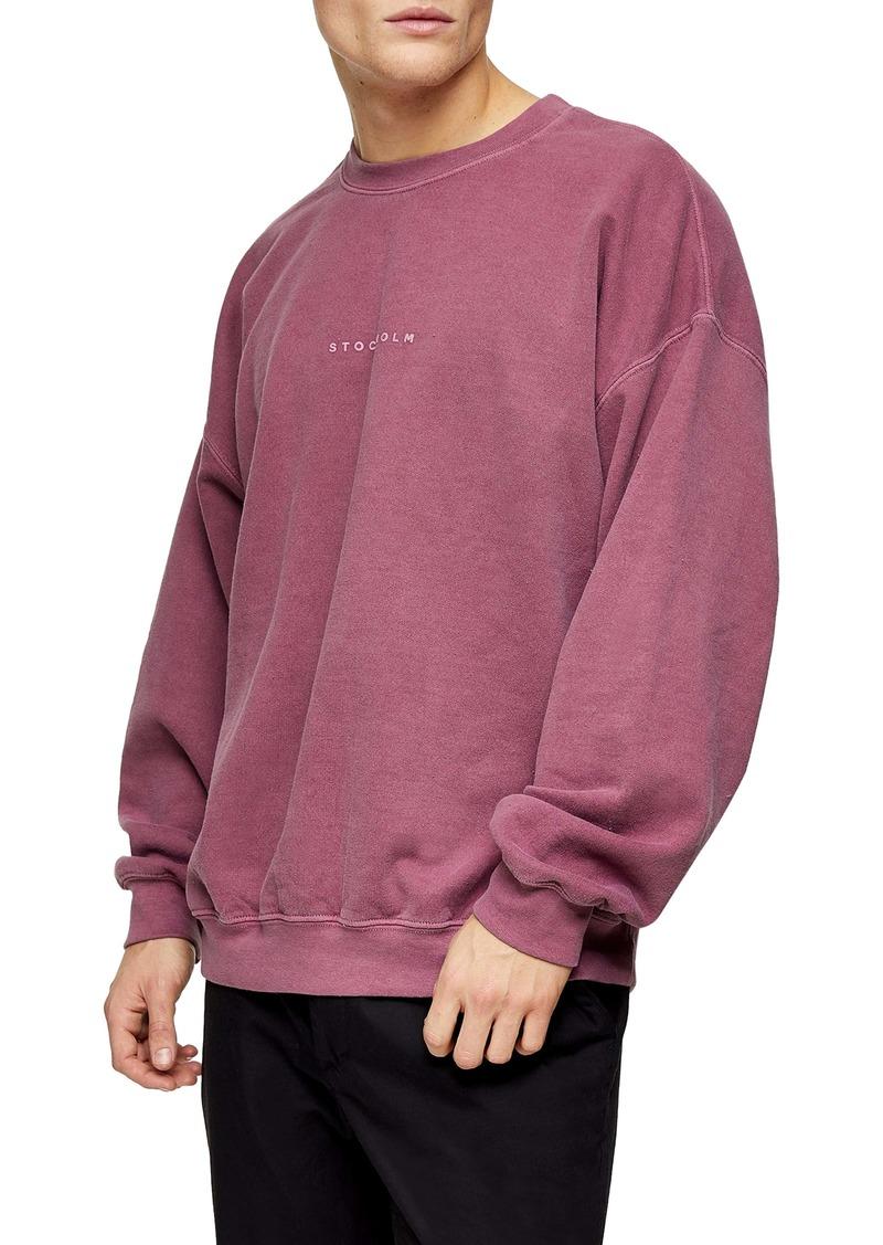 Topman Stockholm Oversize Crewneck Sweatshirt