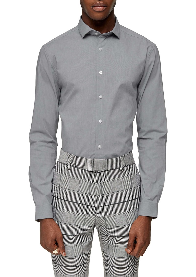 Topman Stretch Fit Button-Up Shirt