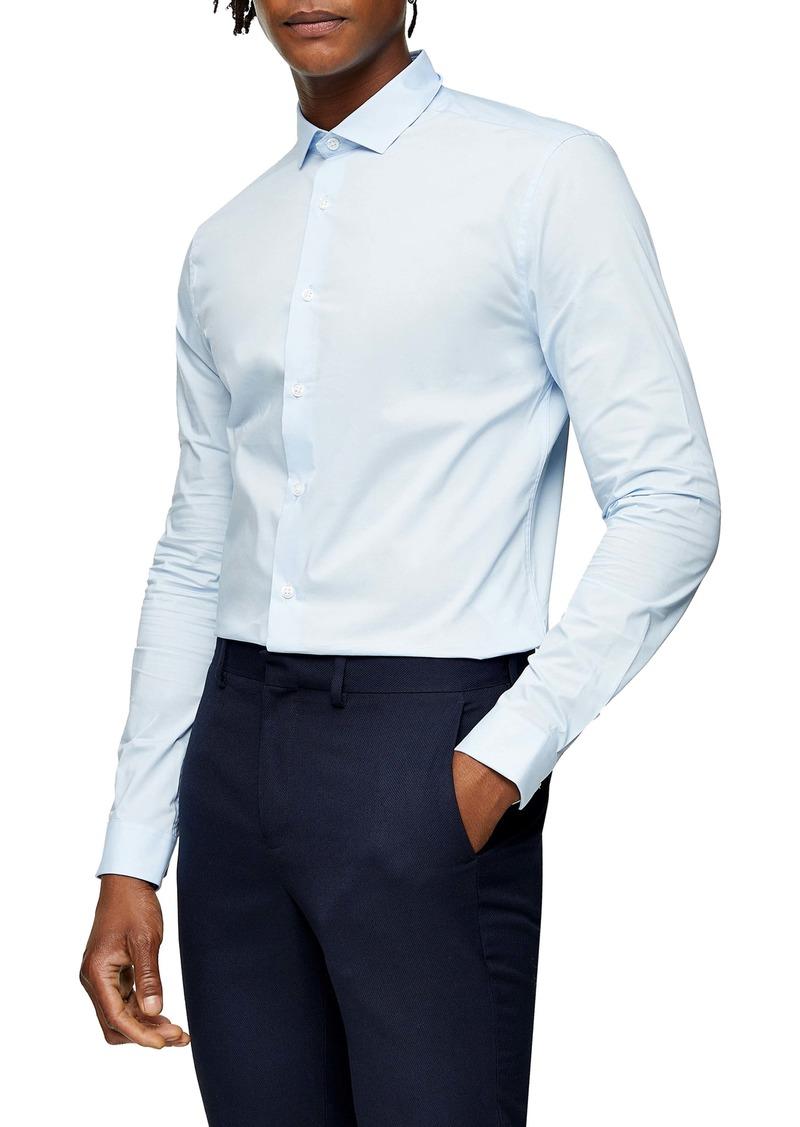 Topman Stretch Fit Button-Up Shirt