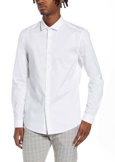 Topman Stretch Form Flow White Button-Up Shirt