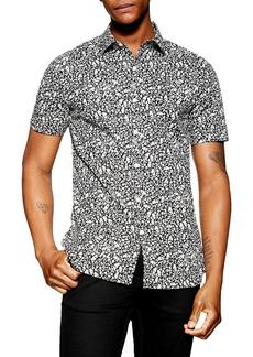 Topman Stretch Skinny Fit Ditsy Print Shirt